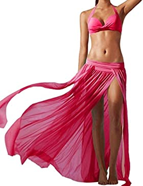 Gusspower Moda Falda Larga Irregular Estampada Flor Maxi Boho Verano Vestido de Playa Fiesta Casual Bikini Cover...