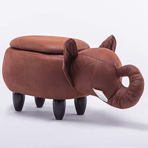 CKH Elephant Roll Nase Hall Change Schuh Hocker Creative Sofa Hocker Low Hocker Cartoon Test Schuhe Hocker Lagerung Hocker rot