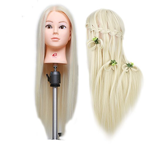Frisurenkopf, Haarlänge 66cm, Blond, professioneller Übungskopf, Make-up-/Friseur-Dummy