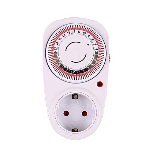 Prima05Sally 24 Stunden Plug-in Mechanisch geerdet Programmierbare Zeitschaltuhr Smart Countdown-Schaltsteckdose Indoor Auto Power Off -
