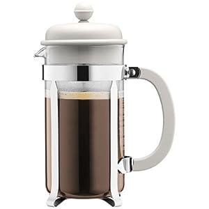 BODUM Caffettiera 8 Cup French Press Coffee Maker, Off White, 1.0 l, 34 oz