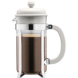 Bodum CAFFETTIERA Kaffeebereiter (French Press System, Permanent Edelstahlfilter, 1,0 liters) cremefarben