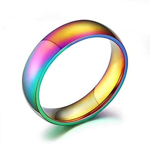 K Mega Jewelry stainless steel The colorful rainbow glare ring ring KR2289 (W)