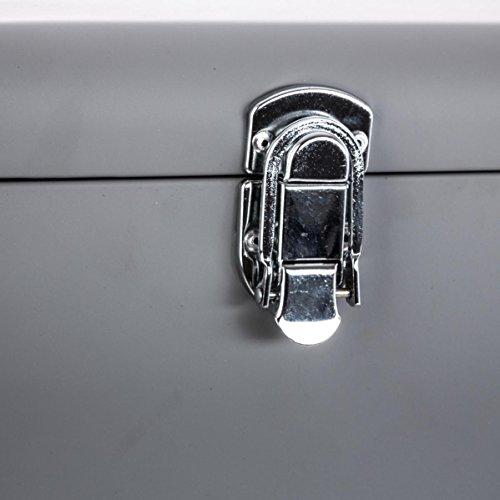 *Set de 2 Coffres Malles de rangement en métal – Esprit cantine – Coloris GRIS Achat