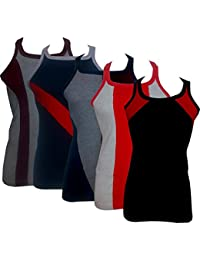Zombie Men's Cotton Premium Coloured Vest Combo Assorted Colors & Assorted Patterns_Pack Of 5_Different Patterns