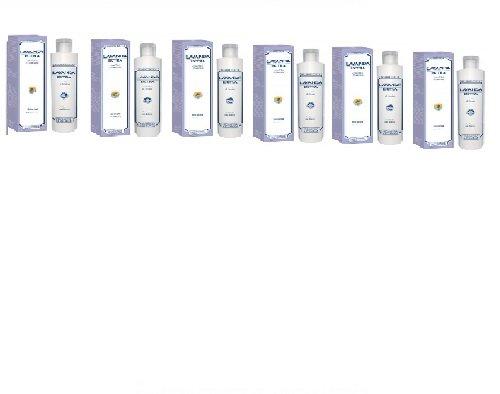 Erboristeria Magentina – Shampooing douche – Lavande Extra – Neutralise la fatigue physique et mentale en régénérant le corps – Kit avec savon naturel Quizen offert – Lot de 6 boîtes de 200 ml