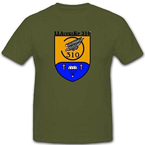 Copytec Bundeswehr Einsatz Fallschirm Luftlandeaufklärungskompanie 310 Einheit Militär Niedersachsen Lüneburg T Shirt #2709, Farbe:Oliv, Größe:Herren L