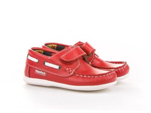 ANGELITOS , Chaussures bateau pour garçon Rouge