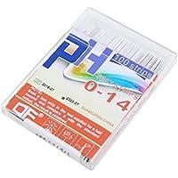 100 Gaza 0-14PH Papel Color Test 4 Indicador de ácido alcalino Medidor para la solución, blanco