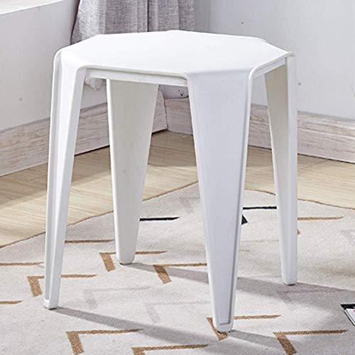 Hocker, Arbeitshocker, Duschhocker, Kunststoff, einfarbig, für Wohnzimmer, Esszimmer, Tisch L A White