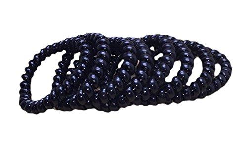 Leisial Lot de 10 élastiques à cheveux/spirales en plastique