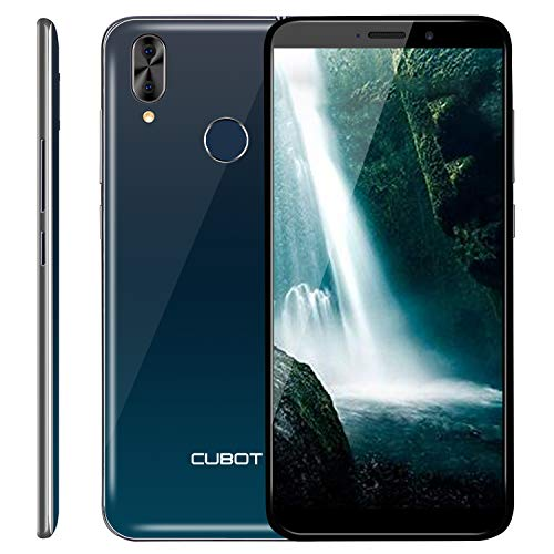 "CUBOT J7 Smartphone ohne Vertrag Günstig Android 9.0 2GB Ram+16GB interner Speicher 5.7"" (18:9) Touch Display 2800mAh Akku 13MP+5MP Dual Kamera 128 GB erweiterbar Dual SIM Face-Unlock Handy (Twilight)"