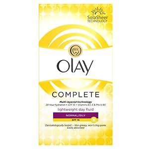 Olay SPF15 Complete Lightweight 3-in-1 Normal/Oily Moisturiser Day Fluid, 100ml