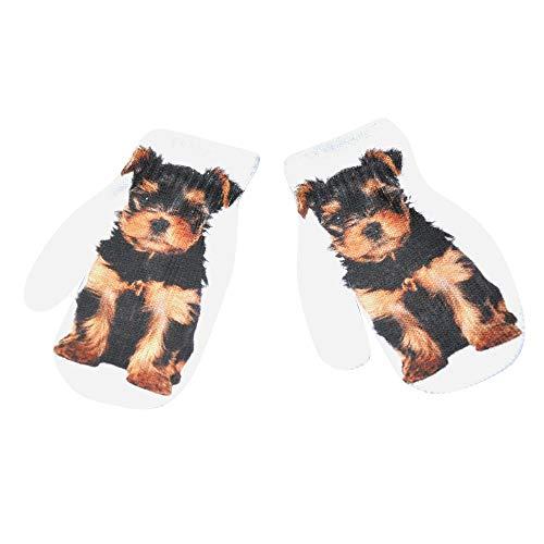 DQANIU Kinderhandschuhe, Kinder Kindermode Winter Warm 3D Animal Print Knitted Kitty Pet Nette Handschuhe -