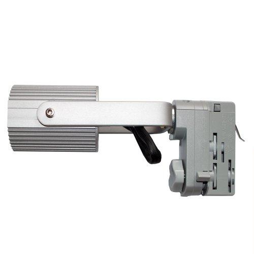 3-Phasen PAR Strahler mit Porzellanfassung E27 passend für Erco Staff Ivela silber - Par38 Fassung