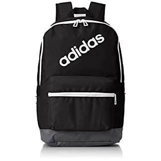 adidas BP Daily Mochila, Hombre, (Negro/Carbon/Blanco), 24x36x45 cm (W x H x L)