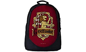 The Souled Store Harry Potter: Gryffindor Sigil Unisex Graphic Printed Polyurethane Backpack Multicolor