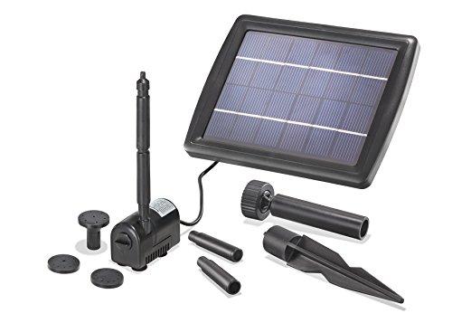 Solar Teichpumpe 2 Watt Solarmodul 175 l/h Förderleistung 70 cm Förderhöhe Komplettset Gartenteich, 101010