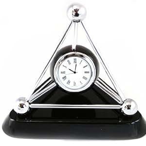 Orologio di legno 39 prestige 39 nero casa e cucina for Orologio legno amazon