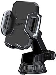 CHOETECH Wireless Car Charger, 10W/7.5W Qi Wireless Fast Charging Car Mount, USB-C Dashboard Phone Holder Comp