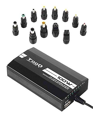 TooQ TQLC-100BS01M - Cargador adaptador universal de 100 W para ordenador portatil,...