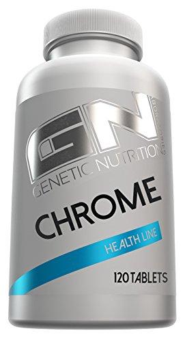 Chrome Line (GN Laboratories Chrome Health Line Essentielles Spurenelement Zur Unterstütztung Von Gesundheit Fettabbau und Muskelaufbau 120 Tabletten)