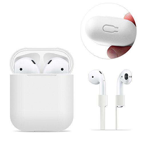 AirPods Case Protective, FRTMA Silicone Skin Case with Sport Strap for Apple...