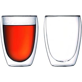 Bodum 4559-10 pavina 2-teiliges Gläser-Set (Doppelwandig, Isoliert, Mundgeblasen, 0,35 liters) transparent