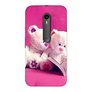 Enticing Twin Teddy Multicolor Back Case Cover for Moto G3