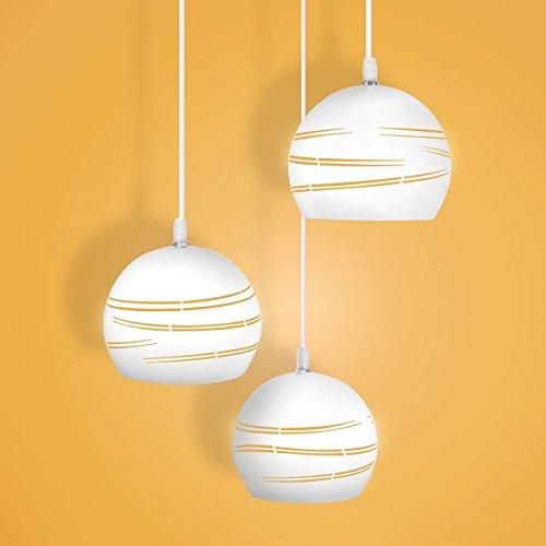 Modernes Hängendes Licht Esszimmer Der Wand Küchenlampe Hohle Einfache Linien Stil Mit 3 Einstellbar Licht AC 85-265V, LED Birne Pendelleuchte Beleuchtung Leuchte Innen Metall Hängeleuchte Wohnzimmer