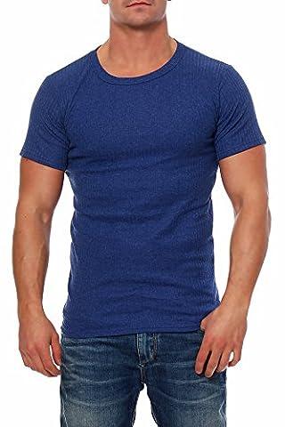 Herren Männer Thermo Unterwäsche Hemd Shirt Kurzarm Langarm Winter Dunkelblau Weiß Weiss Hellgrau Ärmel Kurz Unterhemd von SGS (XXL,