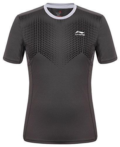 Li Ning Herren T-Shirt B273 Bleigrau