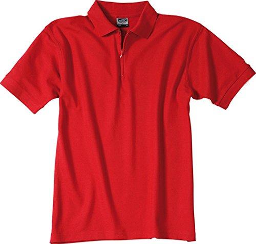 Polo-Piqué Zip Red