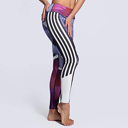 MAOYYMYJK Outdoor-Sport Digitaldruck Schlank Neun Punkte Yoga Leggings Yoga-Hose für Damen - Zumba 360