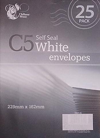 50Enveloppes C5auto-adhésives Blanc Lot de 2paquets de 25
