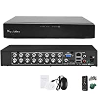 Westshine 16CH 4MP AHD / TVI / CVI / DVR híbrido analógico / IP, H.264 HD 2560 * 1440P Vigilancia CCTV en tiempo real Grabadora de video digital, Soporte Onvif, Salida HDMI, Detección de movimiento, Alerta por correo electrónico, Acceso remoto, Red de nube P2P, Escaneo de código QR (NO HDD)