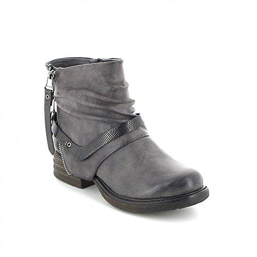 Boots avec zipp Gris