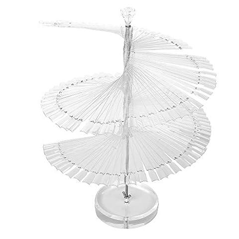 Large Spiral Fan-Shape 120pcs False Nail Tips Sticks Polish Display