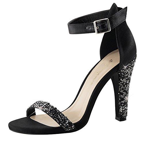 High Heel Sandalette, Damen, Schwarz (schwarz) Schwarz (Schwarz)