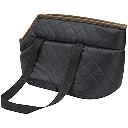 Me and My Pets Black Quilted Carrier 5