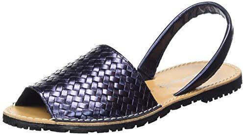 Tamaris Damen 1-1-28164-32 824 Peeptoe Sandalen, Blau (Navy Metallic 824), 39 EU