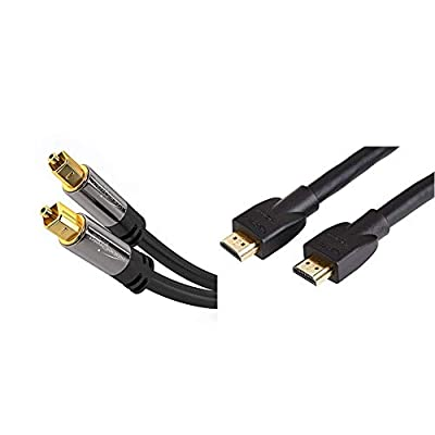 KabelDirekt 0.5m Optical TOSLINK Digital Audio Cable - PRO Series