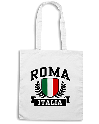 T-Shirtshock - Borsa Shopping TSTEM0079 roma italia Bianco