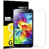 NEW'C [3 Stück], PanzerglasFolie Schutzfolie für Samsung Galaxy S5 Mini, Frei von Kratzern Fingabdrücken und Öl, 9H Härte, HD Displayschutzfolie, 0.33mm Ultra-klar, Displayschutzfolie Samsung S5 Mini