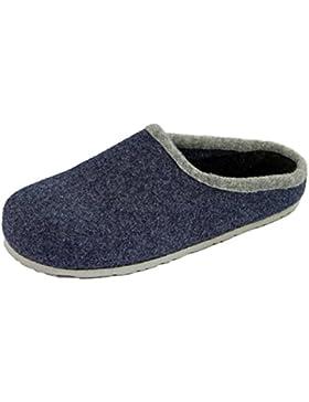 Pantoffelmann® Filzclogs mit Fußbett Unisex Filzpantoffel versch Farben Herren Damen Hausschuh