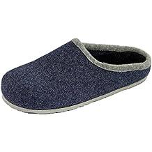 cercare estremamente unico autentico pantofole lana cotta - Blu - Amazon.it