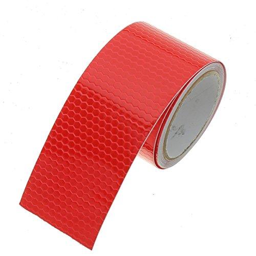 Fablcrew nastro adesivo per riflettente, nastro segnaletico rifrangente per auto, camion, moto, impermeabili 3m x 5cm 1pcs size 3m*5cm (rosso)
