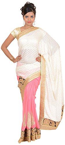 Murari Sarees Women's Brasso Saree (MurSari016