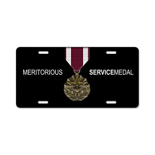 CafePress-Meritorious Service Medal Lizenz Platte-Aluminium Nummernschild, vorne Nummernschild, Vanity Tag (Army Medal Service)