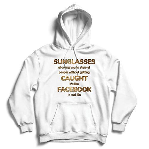 lepni.me Kapuzenpullover Lustiges Facebook-Angebot für Social Media im wirklichen Leben (Medium Weiß Mehrfarben)